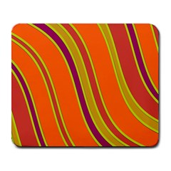 Orange Lines Large Mousepads by Valentinaart