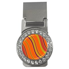 Orange Lines Money Clips (cz)  by Valentinaart