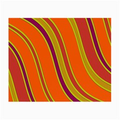 Orange Lines Small Glasses Cloth by Valentinaart