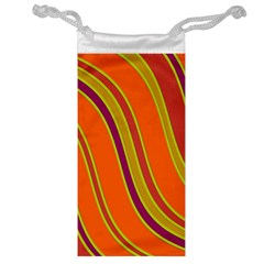 Orange Lines Jewelry Bags by Valentinaart