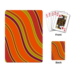 Orange Lines Playing Card by Valentinaart