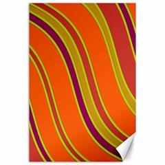 Orange Lines Canvas 24  X 36  by Valentinaart