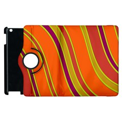 Orange Lines Apple Ipad 2 Flip 360 Case by Valentinaart