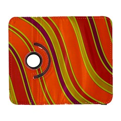Orange lines Samsung Galaxy S  III Flip 360 Case by Valentinaart