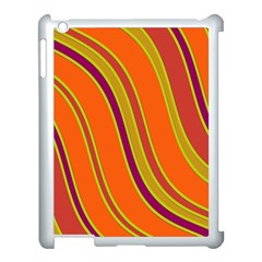 Orange Lines Apple Ipad 3/4 Case (white) by Valentinaart