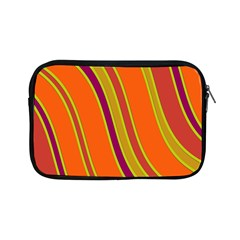 Orange Lines Apple Ipad Mini Zipper Cases by Valentinaart