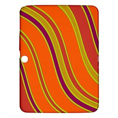 Orange Lines Samsung Galaxy Tab 3 (10 1 ) P5200 Hardshell Case  by Valentinaart