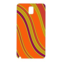 Orange Lines Samsung Galaxy Note 3 N9005 Hardshell Back Case by Valentinaart