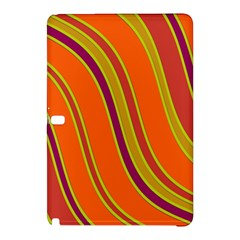 Orange Lines Samsung Galaxy Tab Pro 10 1 Hardshell Case by Valentinaart