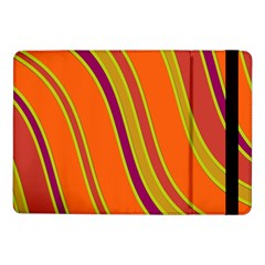 Orange Lines Samsung Galaxy Tab Pro 10 1  Flip Case by Valentinaart