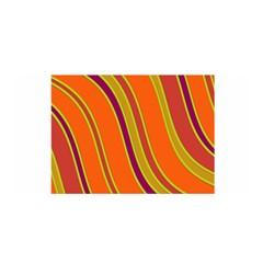 Orange Lines Satin Wrap by Valentinaart
