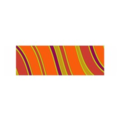 Orange Lines Satin Scarf (oblong) by Valentinaart