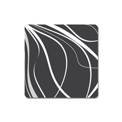 Black And White Elegant Design Square Magnet by Valentinaart