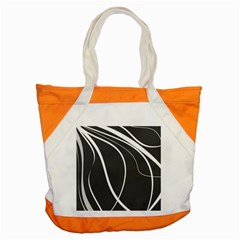 Black And White Elegant Design Accent Tote Bag by Valentinaart