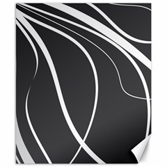 Black And White Elegant Design Canvas 8  X 10  by Valentinaart