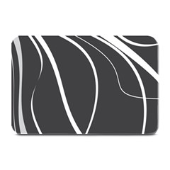 Black And White Elegant Design Plate Mats by Valentinaart