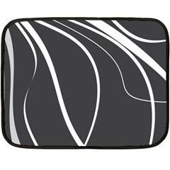 Black And White Elegant Design Fleece Blanket (mini) by Valentinaart