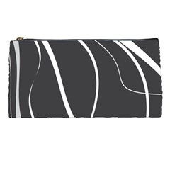 Black And White Elegant Design Pencil Cases by Valentinaart