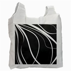 Black And White Elegant Design Recycle Bag (two Side)  by Valentinaart