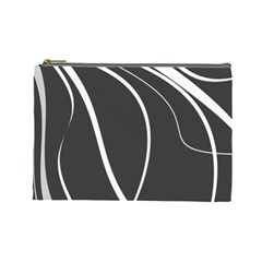 Black And White Elegant Design Cosmetic Bag (large)  by Valentinaart
