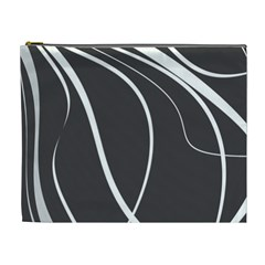 Black And White Elegant Design Cosmetic Bag (xl) by Valentinaart