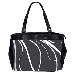 Black And White Elegant Design Office Handbags (2 Sides)  by Valentinaart