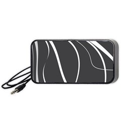 Black And White Elegant Design Portable Speaker (black)  by Valentinaart