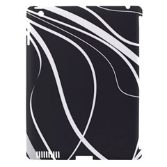 Black And White Elegant Design Apple Ipad 3/4 Hardshell Case (compatible With Smart Cover) by Valentinaart