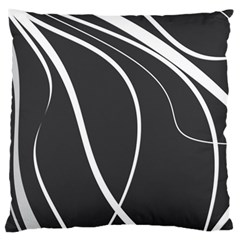 Black And White Elegant Design Large Cushion Case (two Sides) by Valentinaart