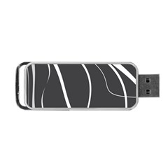 Black And White Elegant Design Portable Usb Flash (one Side) by Valentinaart