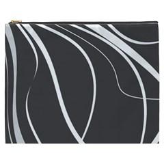Black And White Elegant Design Cosmetic Bag (xxxl)  by Valentinaart
