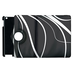 Black And White Elegant Design Apple Ipad 2 Flip 360 Case by Valentinaart