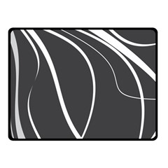 Black And White Elegant Design Double Sided Fleece Blanket (small)  by Valentinaart