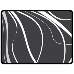 Black And White Elegant Design Double Sided Fleece Blanket (large)  by Valentinaart