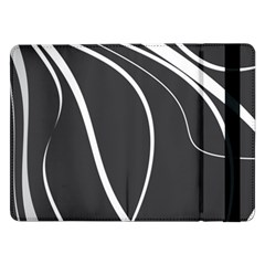 Black And White Elegant Design Samsung Galaxy Tab Pro 12 2  Flip Case by Valentinaart