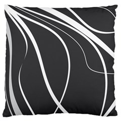 Black and white elegant design Standard Flano Cushion Case (Two Sides) by Valentinaart