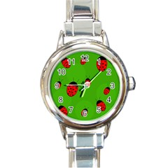 Ladybugs Round Italian Charm Watch by Valentinaart