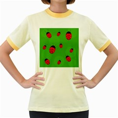 Ladybugs Women s Fitted Ringer T Shirts by Valentinaart