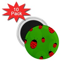 Ladybugs 1 75  Magnets (10 Pack)  by Valentinaart