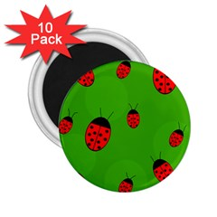 Ladybugs 2 25  Magnets (10 Pack)  by Valentinaart