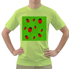 Ladybugs Green T Shirt by Valentinaart