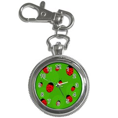 Ladybugs Key Chain Watches by Valentinaart