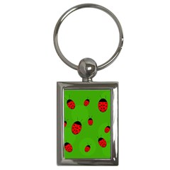 Ladybugs Key Chains (rectangle)  by Valentinaart