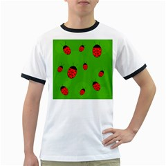 Ladybugs Ringer T Shirts by Valentinaart