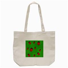 Ladybugs Tote Bag (cream) by Valentinaart