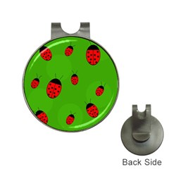 Ladybugs Hat Clips With Golf Markers by Valentinaart