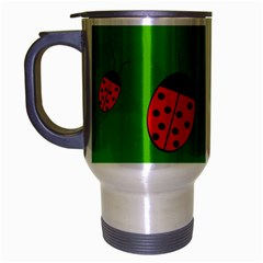 Ladybugs Travel Mug (silver Gray) by Valentinaart