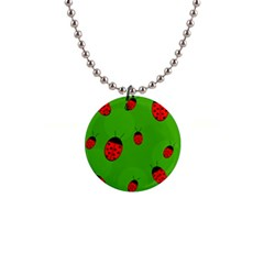 Ladybugs Button Necklaces by Valentinaart