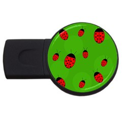 Ladybugs Usb Flash Drive Round (4 Gb)  by Valentinaart