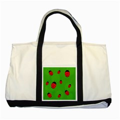 Ladybugs Two Tone Tote Bag by Valentinaart